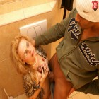 Kinky MILF getting dirty on the toilet
