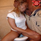 Filthy mature slut getting dirty on the toilet