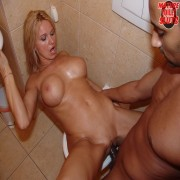 Raw and kinky mature toilet sex