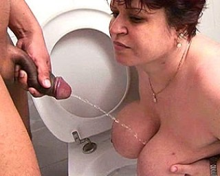cocksucking, asslicking, cum fetching and piss loving mature toilet slut