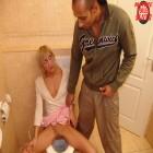 Blonde mature toilet slut fucked