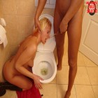 paint that blonde mature toilet slut full of cum